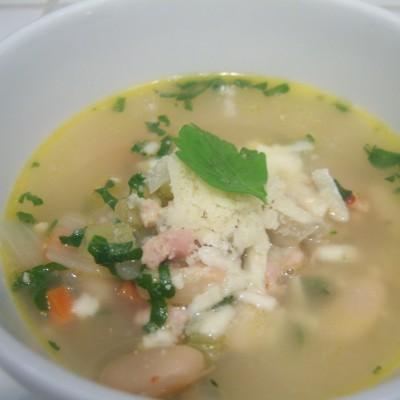 Spicy Chicken & White Bean Soup